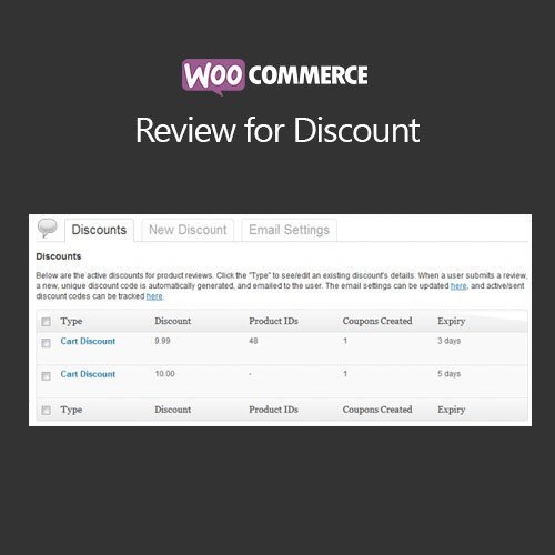 WooCommerce Review for Discount